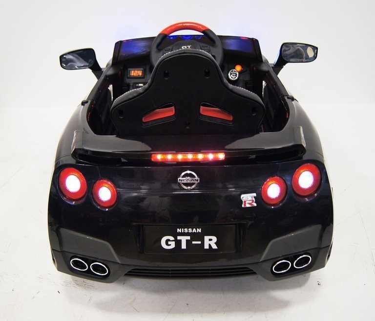 Детский электромобиль Nissan GTR X333XX (ЛИЦЕНЗИОННАЯ МОДЕЛЬ) черный/белый