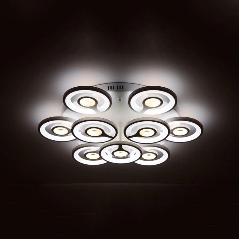 Люстра светильник потолочный с пультом 3+6 00551