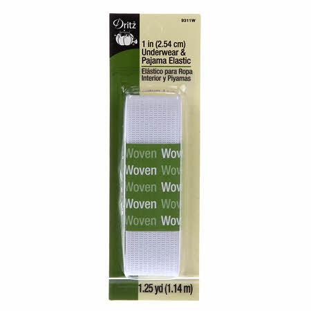 White Underwear & Pajama Elastic 1in x 1-1/4yd 9311W