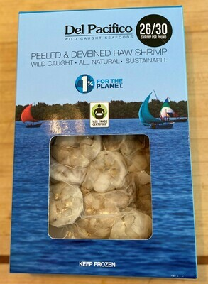Del Pacifico Wild Caught Mexican Blue Shrimp Peeled Deveined 8 oz Pack
