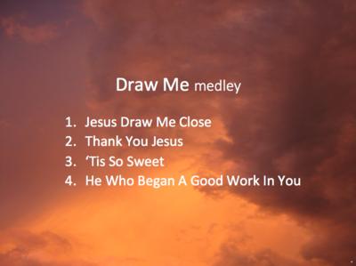 Draw Me medley A/V