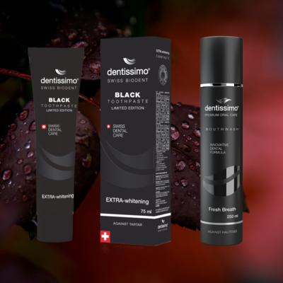 BLACK komplet za ustno higieno ZOBNA PASTA 75ml in USTNA VODICA 250ml
