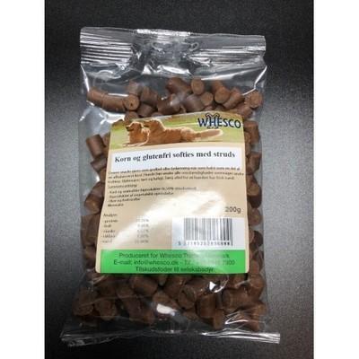 Bløde godbidder med struds 200 gram.