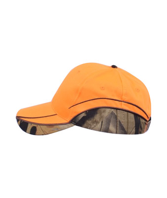 Orange caps med camouflage
