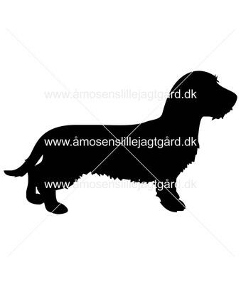Folie-/Strygemærke - Ruhåret gravhund