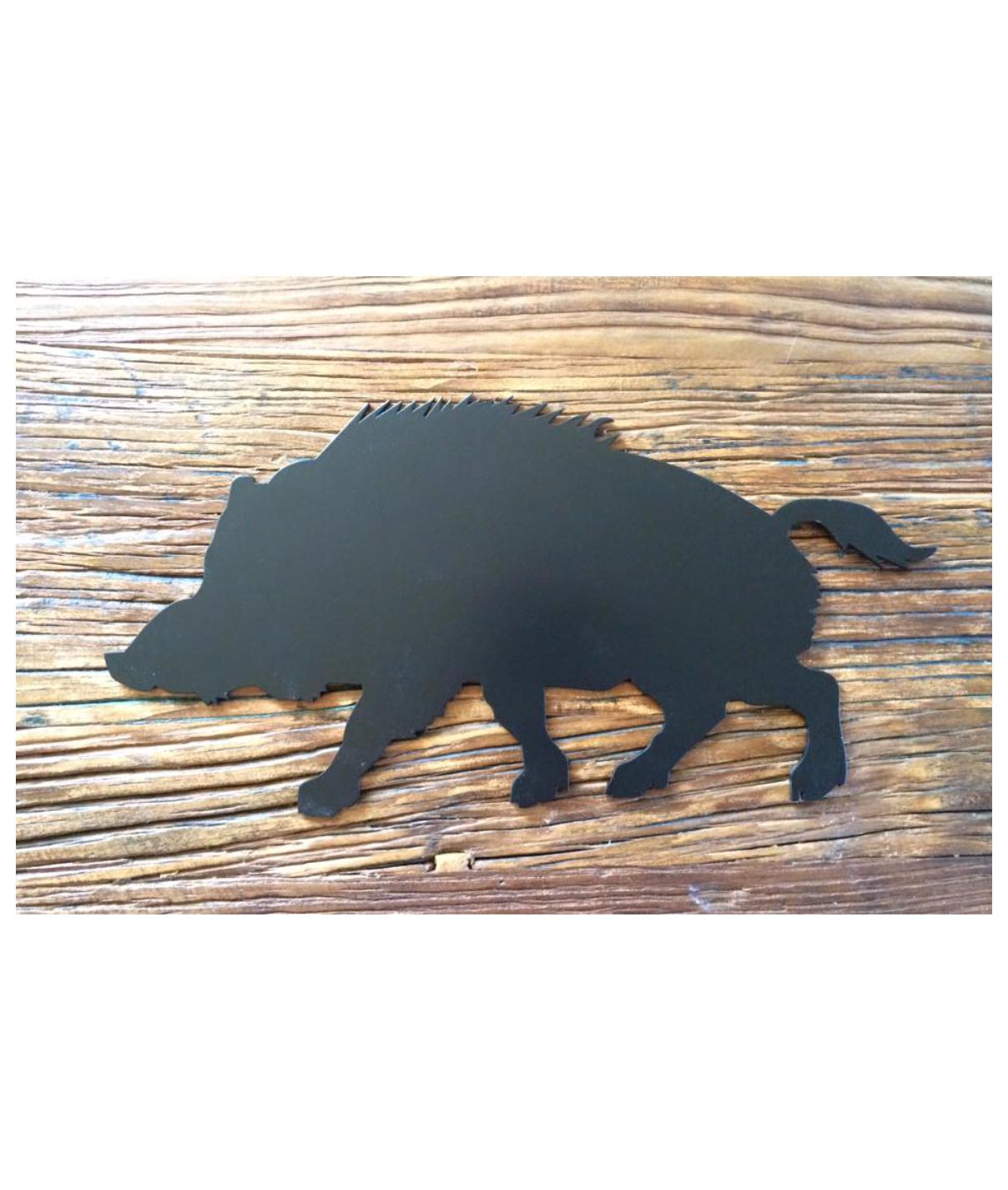 Udskåret dyr i stål - Vildsvin 00187