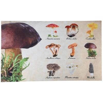Dørmåtte med print af svampe