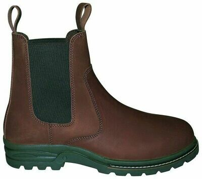 Læder støvle med sikkerhed