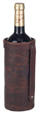 Vinholder i rustik læder