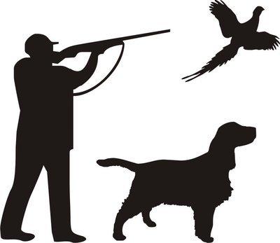 Foliemærke - Jæger med hund