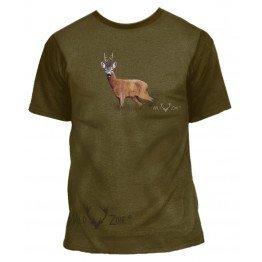 T-shirt med print af Råbuk
