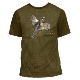 T-shirt med print af Fasan 00107