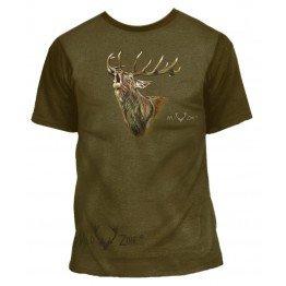 T-shirt med print af Kronhjort 00108