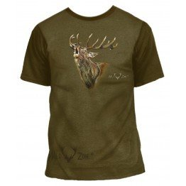 T-shirt med print af Kronhjort