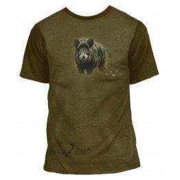 T-shirt med print af Vildsvin 00109