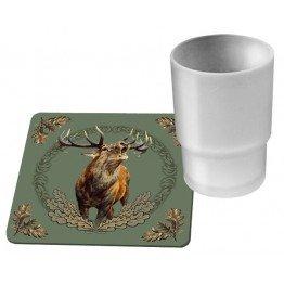 Bordskåner med Kronhjort 6 stk. pakke 00151