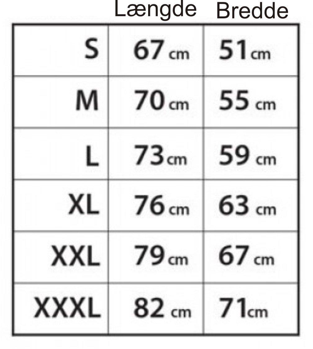 Størrelse guide