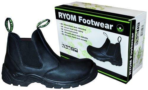 Fritidsstøvle i læder m. sikkerhed 00202