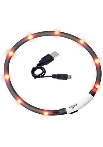 LED halsbånd - SORT 00455