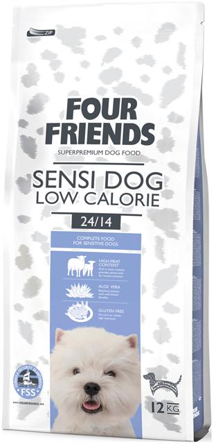Four Friends sensi dog low calorie 12 kg. 00469