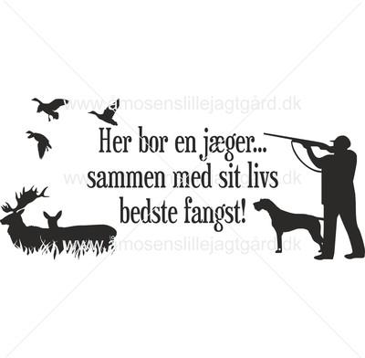 Folie-/Strygemærke - Bedste fangst m. Ruhår