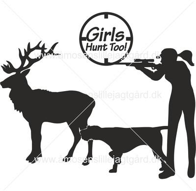 Folie-/Strygemærke - Girls Hunt Too