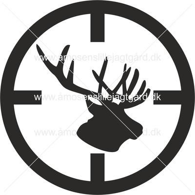 Folie-/Strygemærke - Sigtekorn med hjort