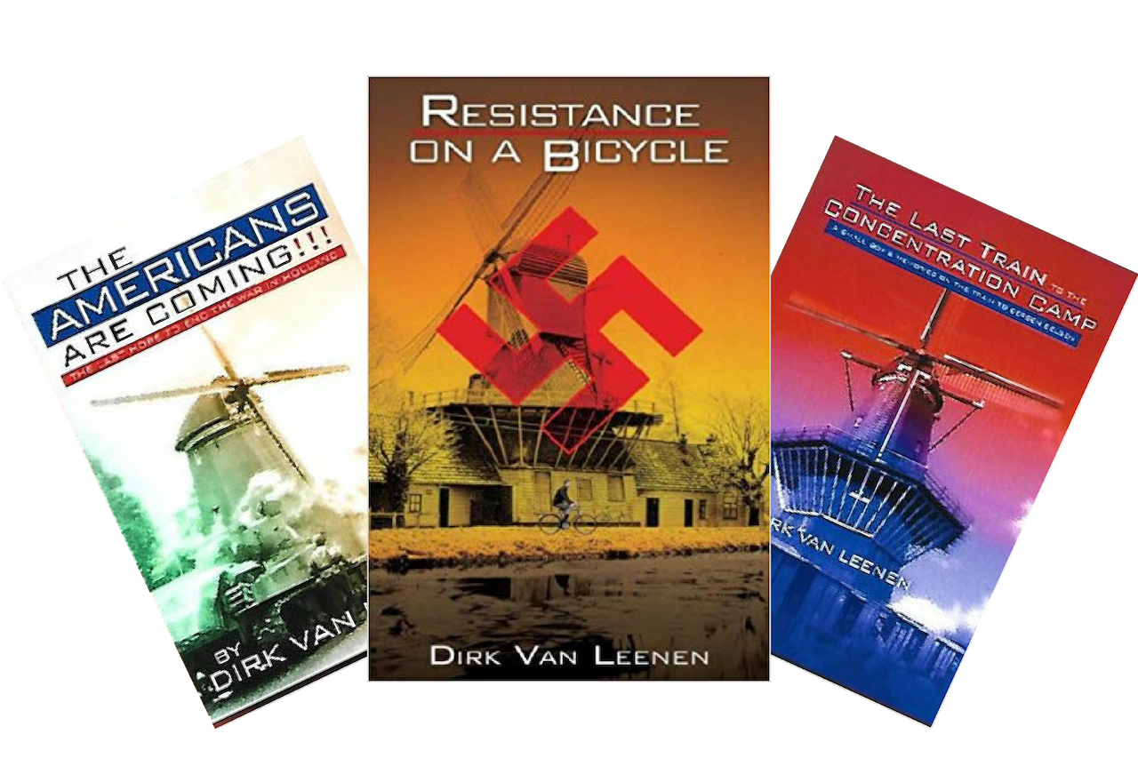 (A1) Book Trilogy - Resistance On A Bicycle, The Americans Are Coming, The Last Train to the Concentration Camp. Trilogy Set