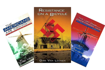 (A1) Book Trilogy - Resistance On A Bicycle, The Americans Are Coming, The Last Train to the Concentration Camp.
