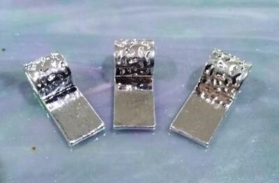Bails, white silver, 3