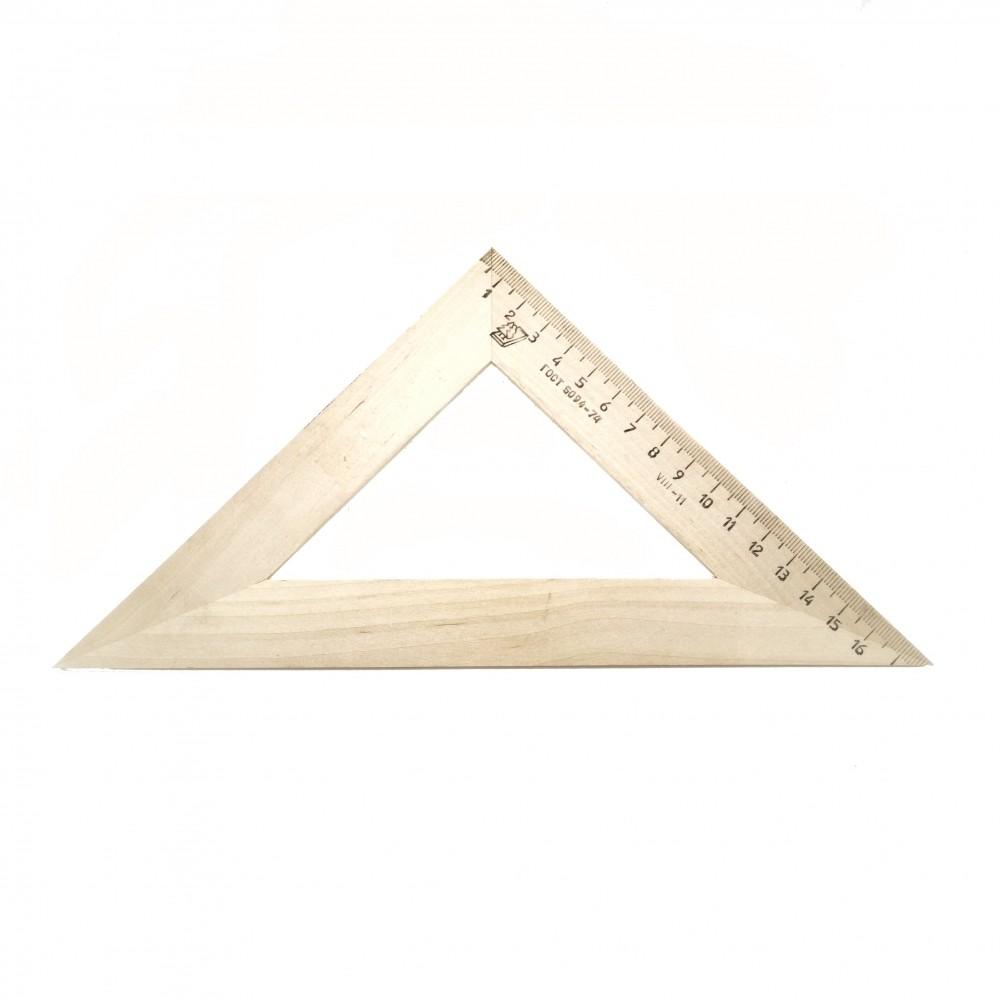 Треугольник деревянный 45° 18 см