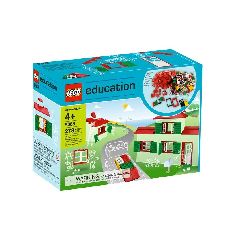 LEGO 9386 Окна, двери и черепица для крыши
