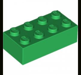 Кирпич 2х4 (зеленый)
