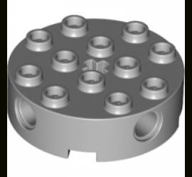 TECHNIC Круглый кирпичик 4X4 (серый)