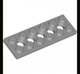 LEGO 4211542 Плитка 2X6 с круглыми отверстиями (серая)