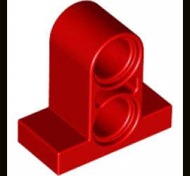 Ребристая балка на плитке 1X2 с трубкой (красная)
