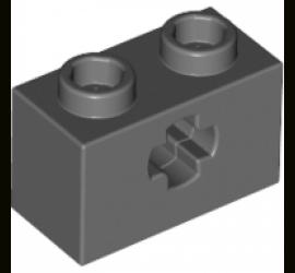 LEGO 4210935 Кирпичик 1X2 с отверстием крестовинного типа (темно-серый)