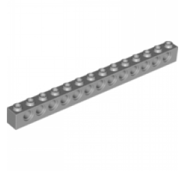 LEGO 4211705 TECHNIC Кирпичик 1X14, R4,9 (серый)