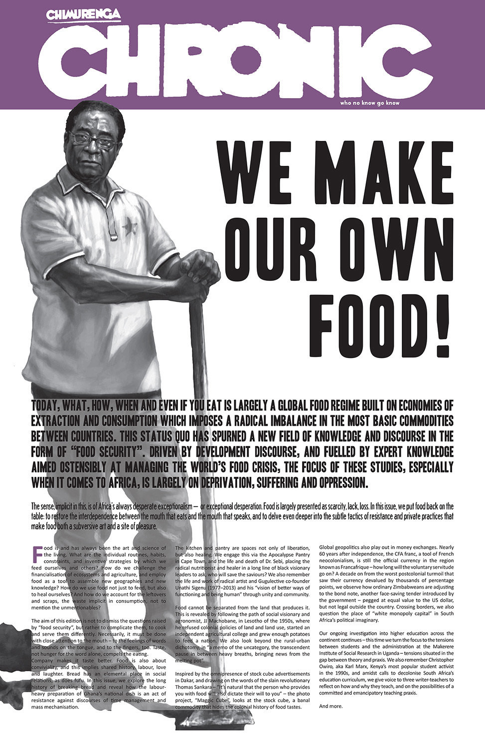 Chimurenga Chronic: We Make Our Own Food! (April 2017) Print