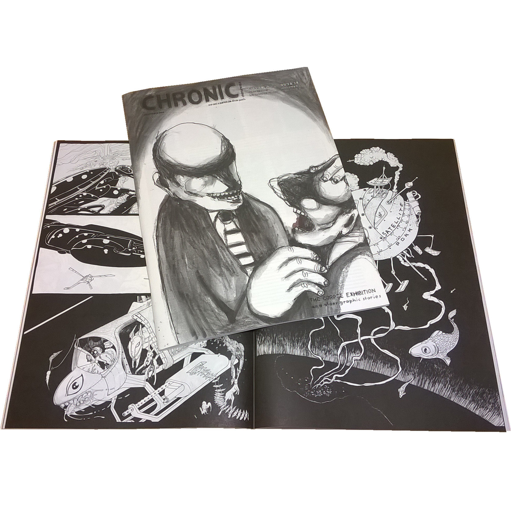 Chimurenga Chronic: The Corpse Exhibition & Older Graphic Stories (August 2016) Print  -  2017 Winner Nommo Award for Best Speculative Fiction Graphic Novel by Africans CC0816