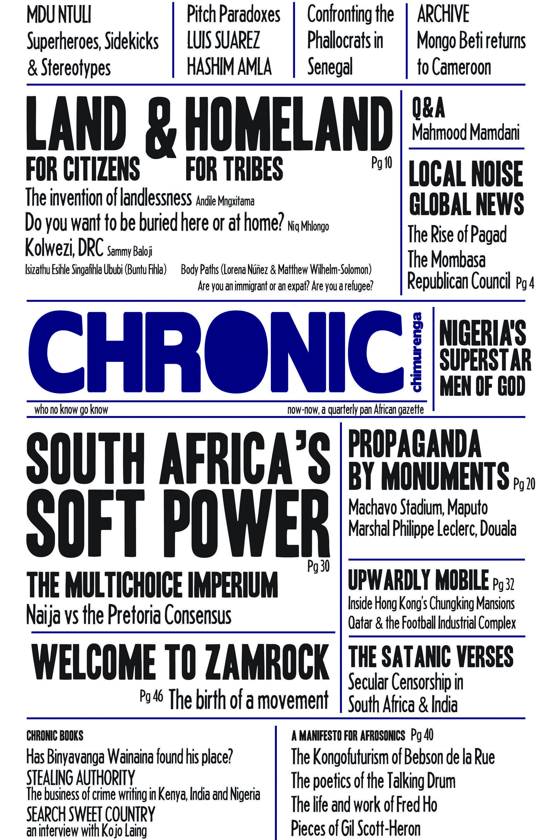 Chimurenga Chronic (April 2013) Print