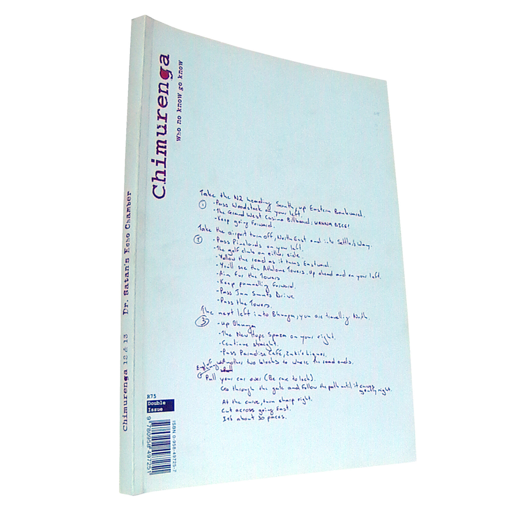 Chimurenga 12/13 - Dr Satan's Echo Chamber (Double-Issue March 2008) Print CJ1213
