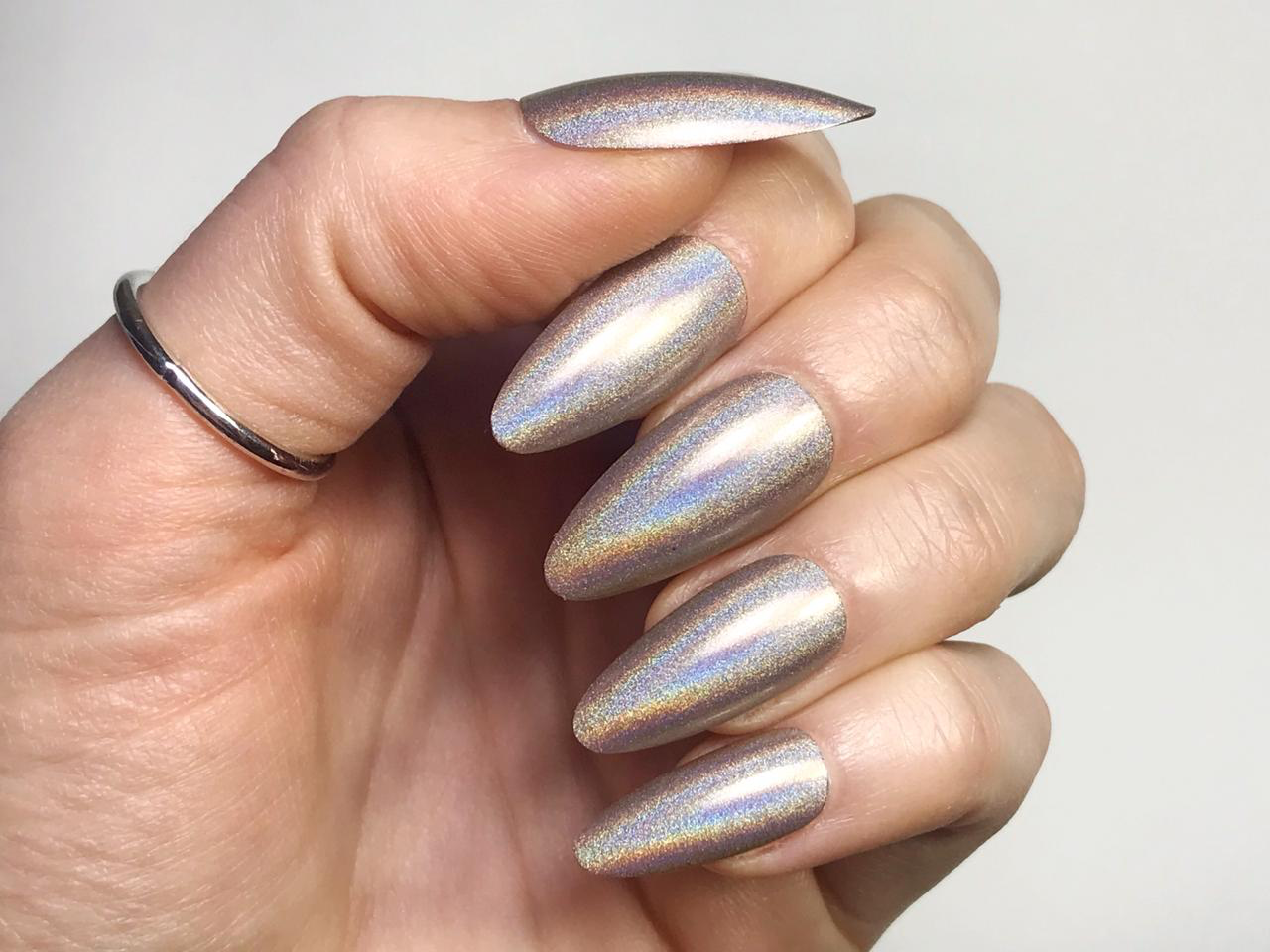 Grey Holographic