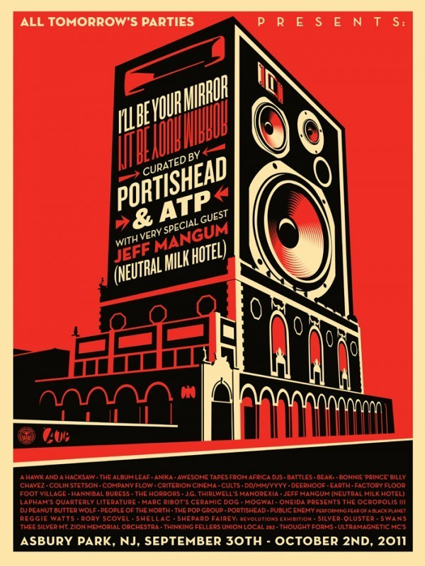 SIGNED & NUMBERED SHEPARD FAIREY 'I'll BE YOUR MIRROR' PRINTS CURATED BY PORTISHEAD