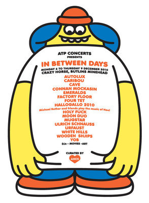 ATP 'In Between Days' curated by AMOS poster (James Jarvis)