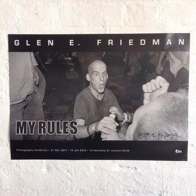 IAN MACKAYE performing in MINOR THREAT A2 poster by Glen E Friedman