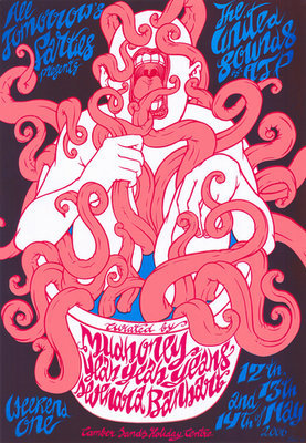 ATP 'United Sounds of ATP' curated by Mudhoney/Yeah Yeah Yeahs/Devendra Banhart poster (Zeloot) limited edition art print (produced for United Sounds 1 ATP, UK 2006)