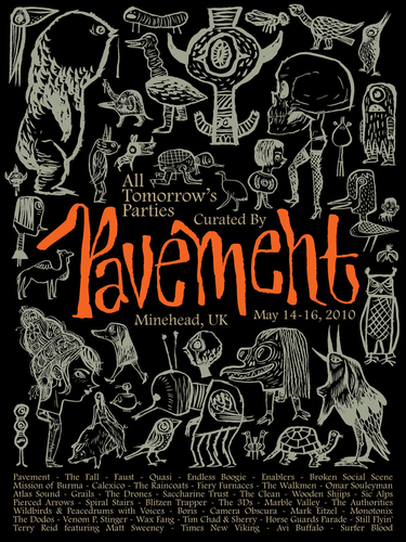 ATP curated by PAVEMENT signed & numbered edition of 350 Giclée art print by TIM BISKUP, 2010
