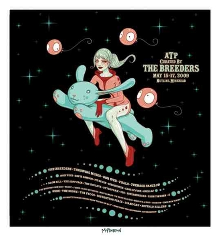 ATP curated by The Breeders poster (Tara McPherson)