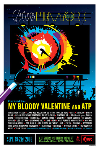 ATP New York curated by MY BLOODY VALENTINE screen print designed by KII ARENS